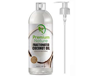 Premium Nature Fractionated Coconut Oil 16 Oz