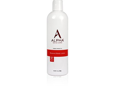 Alpha Skin Care Renewal Body Lotion, 12% Glycolic AHA, 12-Ounce