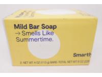 Smartly Mild Bar Soap, Smells Like Summertime, 4 oz, Pack Of 2 - Image 2