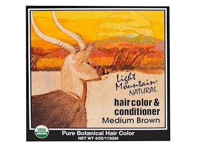 Light Mountain Natural Hair Color & Conditioner, Medium Brown, 4 oz - Image 1
