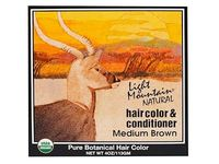 Light Mountain Natural Hair Color & Conditioner, Medium Brown, 4 oz - Image 2