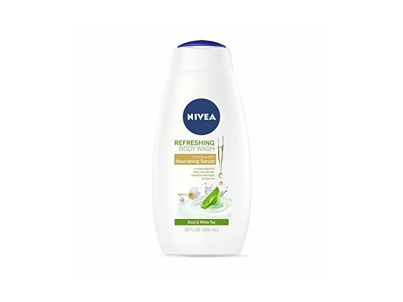 NIVEA Refreshing Body Wash, Basil & White Tea, 20 fl oz