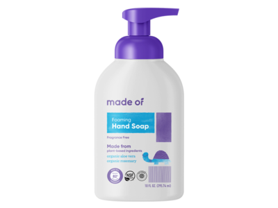 made of Foaming Organic Baby Soap, 10 fl oz