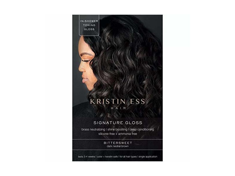 Kristin Ess Hair Signature Gloss Temporary Hair Color Kit, BitterSweet (Dark Neutral Brown)