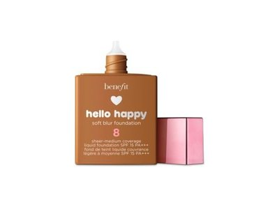 Benefit Cosmetics Hello Happy Soft Blur Foundation, Shade 8, 1 fl oz - Image 1