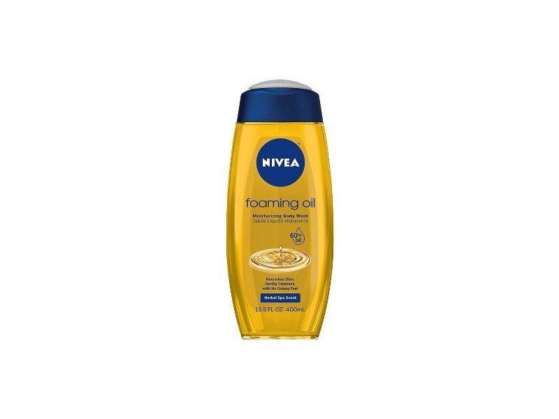 Nivea Foaming Oil Moisturizing Body Wash, Herbal Spa Scent, 13.5 fl oz