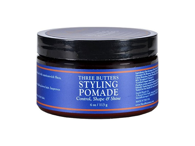 SheaMoisture for Men Three Butters Styling Pomade, 4 oz