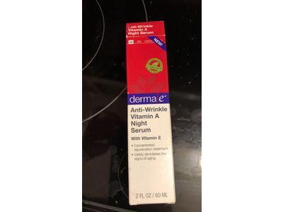 DERMA E Anti-Wrinkle Night Serum with Vitamin A and Vitamin E, 2oz - Image 3