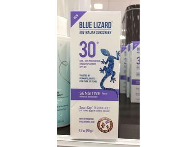 Blue Lizard Australian Sensitive Face Mineral Sunscreen, SPF 30+, 1.7 fl oz - Image 3