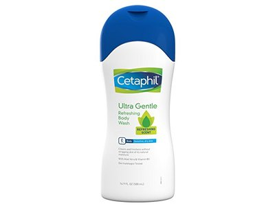Cetaphil Ultra Gentle Body Wash, Refreshing Scent, 16.9 Ounce - Image 1