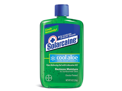 Solarcaine Burn Relief Gel Restores Moisture, Cool Aloe, 8 oz/226 g