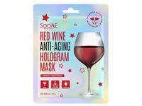 SooAE Red Wine Anti-Aging Hologram Mask, 0.88 oz - Image 2