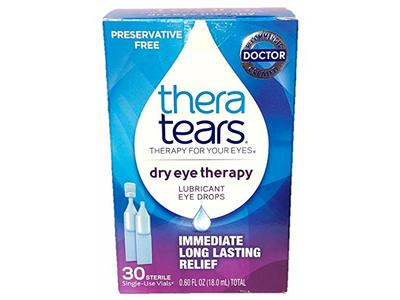TheraTears Dry Eye Therapy Lubricant Eye Drops, 30 Single-Use Vials