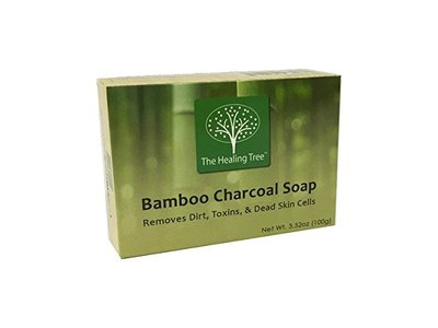 The Healing Tree Bamboo Charcoal Soap, 3.52 oz (3 Pack)