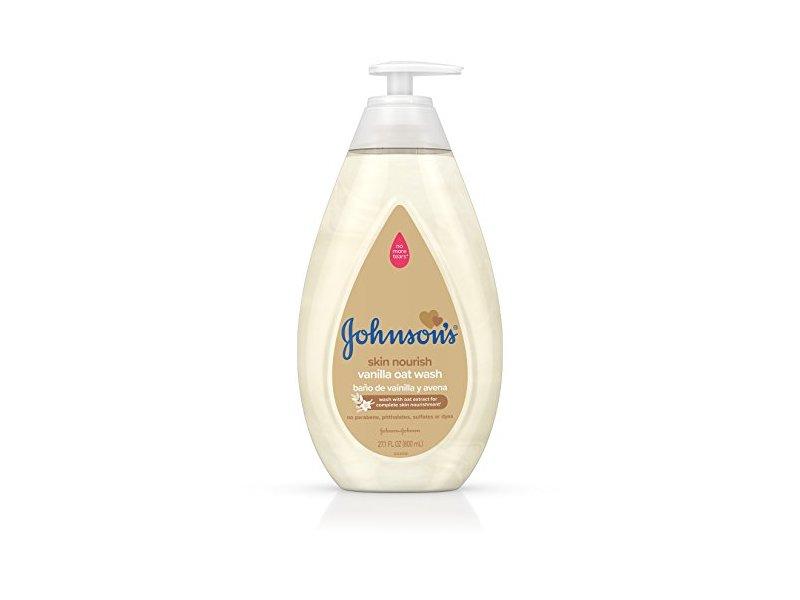 Johnson's Skin Nourishing Vanilla Oat Wash, Extract, 27.1 fl oz