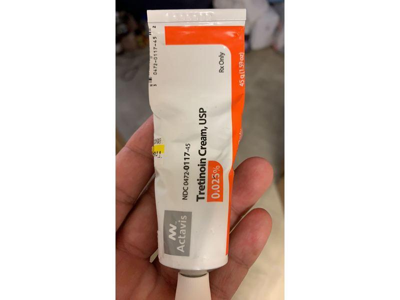 Tretinoin Cream USP, 0.025%, 45 g, Actavis