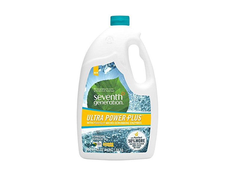 Seventh Generation Ultra Power Plus Natural Auto Dish Gel, Fresh Scent, 65 Ounce