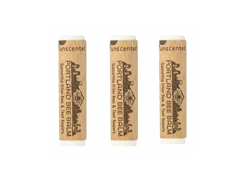 Portland Bee Balm Unscented Balm, 3 Tube Pack