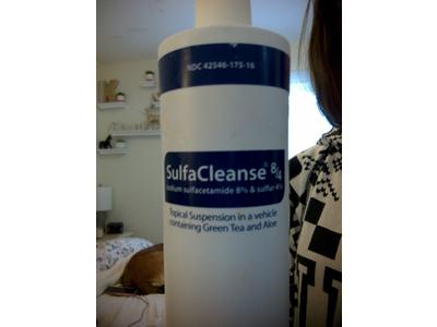 SulfaCleanse 8/4 (Sodium Sulfacetamide 8% / Sulfur 4% (RX), 16 Oz, PruGen Pharmaceuticals - Image 1