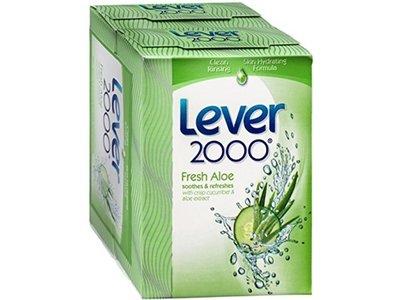 Lever 2000 Refreshing Bar Soap, Aloe & Cucumber, 4 oz (Pack of 4)