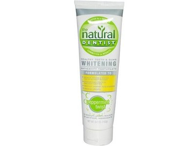 The Natural Dentist Whitening Fluoride Toothpaste, Peppermint Twist, 5oz