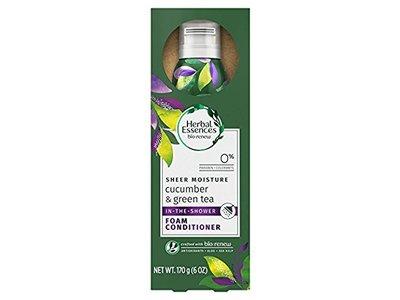 Herbal Essences Sheer Moisture In The Shower Foam Conditioner, Cucumber & Green Tea, 6 oz - Image 1