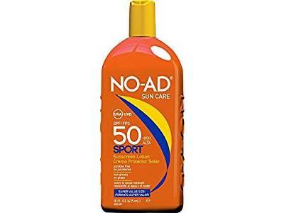 No-AD Suncare Sport Sunscreen Lotion, SPF 50, 16 oz