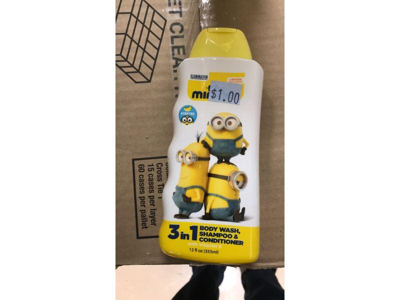 Minions 3-in-1 Body Wash Shampoo + Conditioner, 12 fl oz