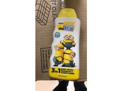 Minions 3-in-1 Body Wash Shampoo + Conditioner, 12 fl oz - Image 1