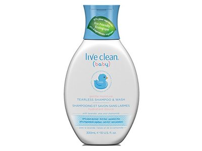 Live Clean Baby Shampoo & Wash Tearless 10oz (3 Pack)