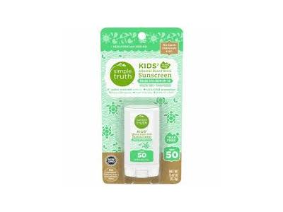 Simple Truth Kid's Mineral Based Stick Sunscreen, SPF 50, .47 oz
