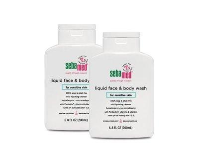 Sebamed Liquid Face and Body Wash for Sensitive Skin, 6.8 fl oz (Pack of 2)