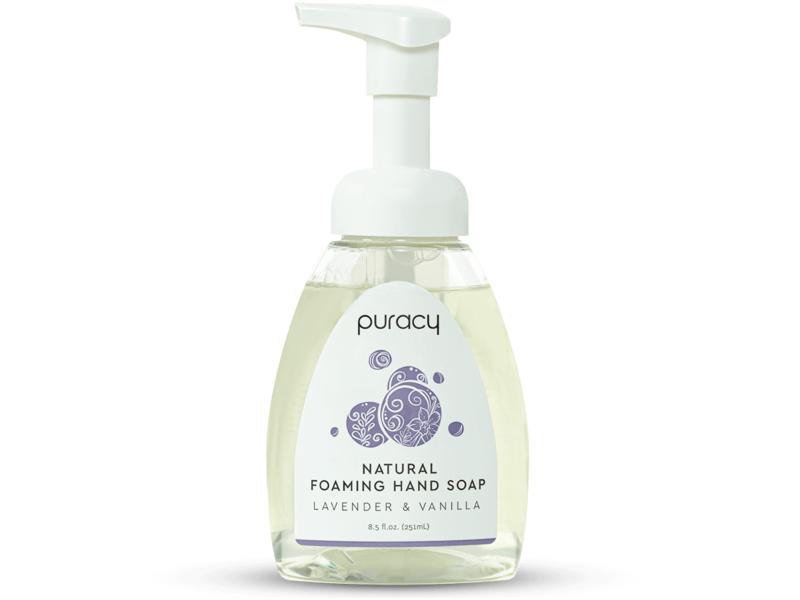 Puracy Natural Foaming Hand Soap, Lavender & Vanilla, 8.5 fl oz/251 mL