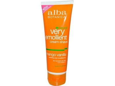 Alba Botanica Mango Vanilla Shave Cream, 8 oz
