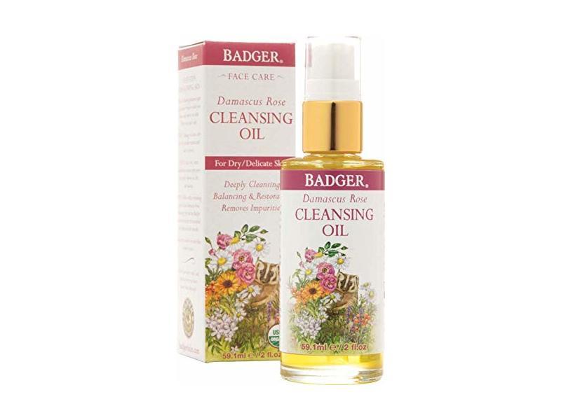 Badger Face Cleansing Oil Damascus Rose Organic, 2 fl oz/59.1 mL