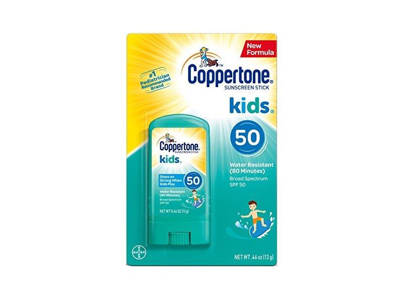 Coppertone Kids Sunscreen Stick Broad Spectrum SPF 50, .46 Ounces