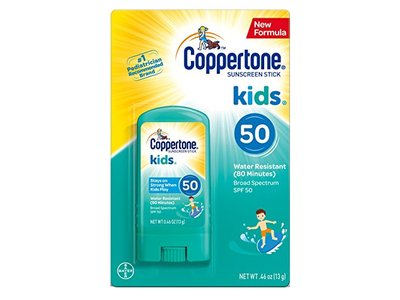 Coppertone Kids Sunscreen Stick Broad Spectrum SPF 50, .46 Ounces