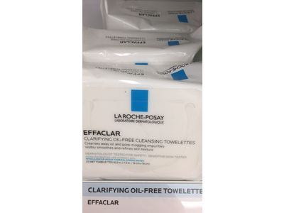 La Roche-Posay Effaclar Clarifying Oil-Free Cleansing Towelettes Facial Wipes, 25 ct. - Image 4