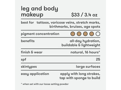 Dermablend Leg and Body Makeup Liquid Foundation 0N Fair Nude - Image 5