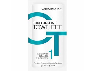 California Tan Three-In-One Towelette, .19 fl oz