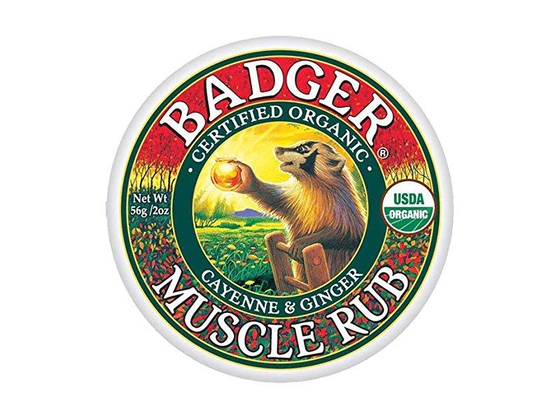 Badger Organic Muscle Rub, Cayenne & Ginger, 2 oz