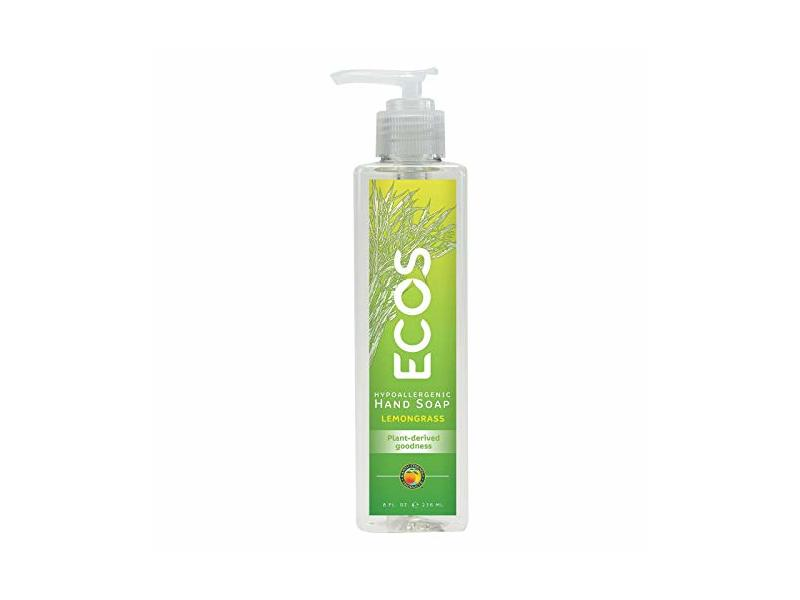 Ecos Hand Soap, Lemongrass, 8 fl oz