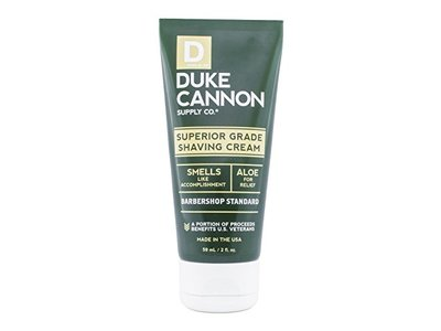 Duke Cannon Men's Superior Grade Shaving Cream, Travel Size 2 oz