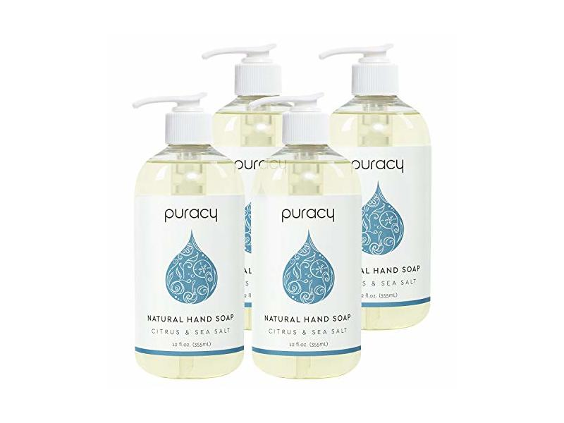 Puracy Natural Liquid Hand Soap, Citrus & Sea Salt, 12 oz