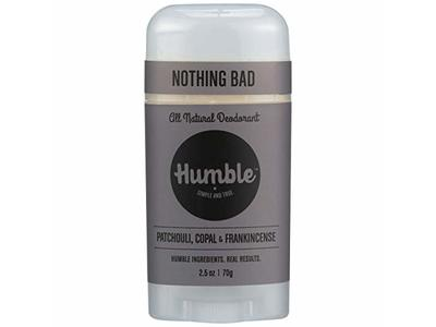 Humble Natural Deodorant Patchouli Copal & Frankincense, 2.5 Ounce