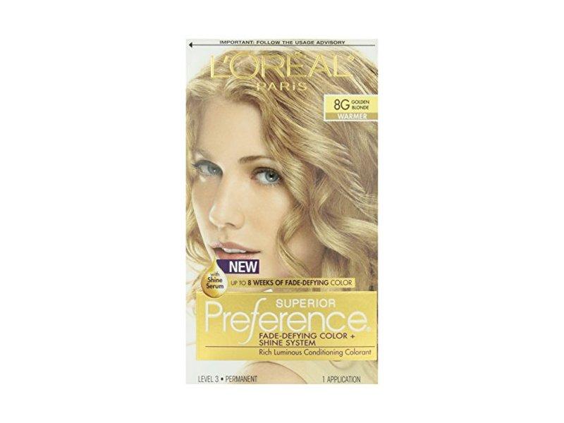 L'oreal Superior Preference, 8G Golden Blonde, 1 Application