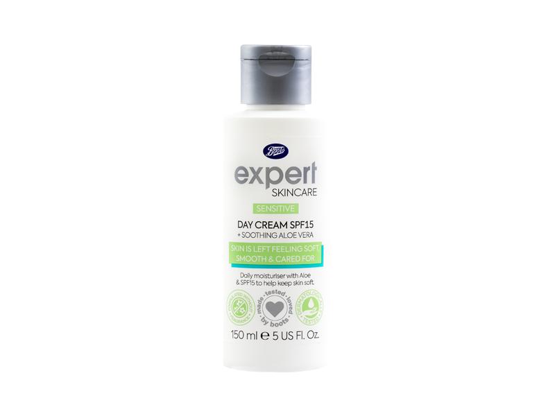 Boots Expert Skincare Day Cream SPF 15, Sensitive, 150 mL