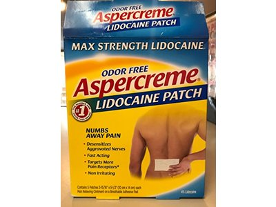 Aspercreme Lidocaine Patch, Odorfree, 5 ct