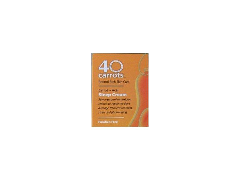 40 carrots retinol rich skin care carrot acai sleep cream 2oz