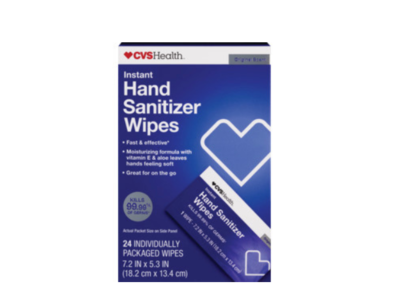CVS Health Instant Hand Sanitizer Wipes, 24 count - Image 1